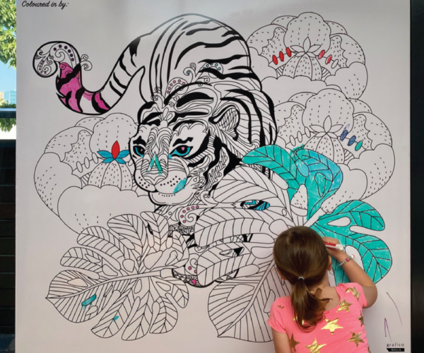 Colour Me Kids Whiteboard Wallpaper