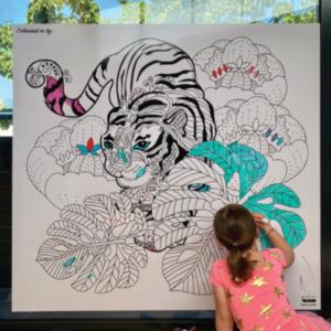 Colour Me Kids Whiteboard Wallpaper