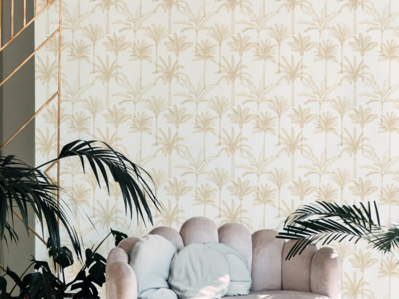 Grafico - The Palms - Gold - Wallpaper